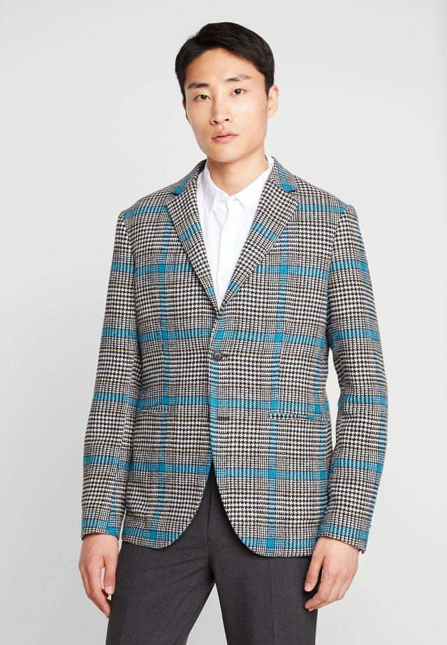 Blazer jacket - black/white/blue