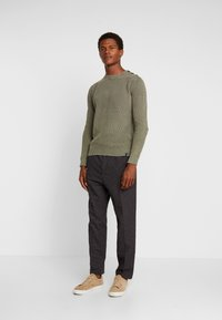 Sisley - Trousers - mottled dark grey - 1