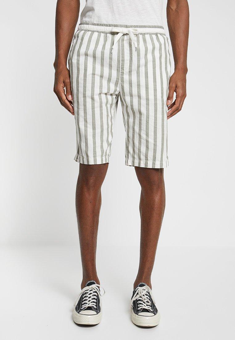 Sisley - Shorts - white/khaki
