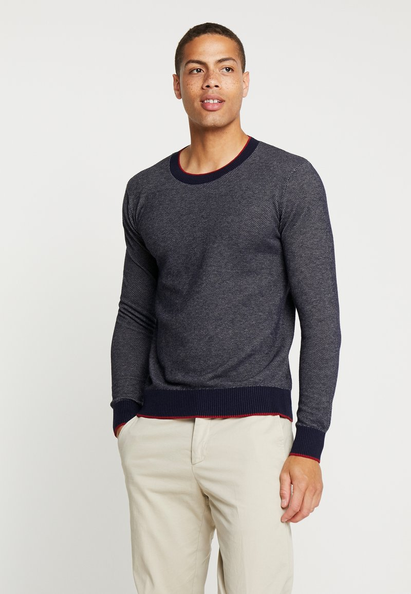Sisley - Strickpullover - mottled dark blue
