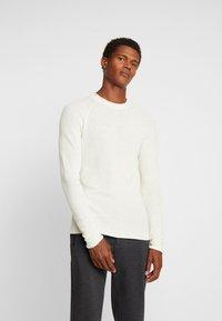 Sisley - Stickad tröja - off-white - 0