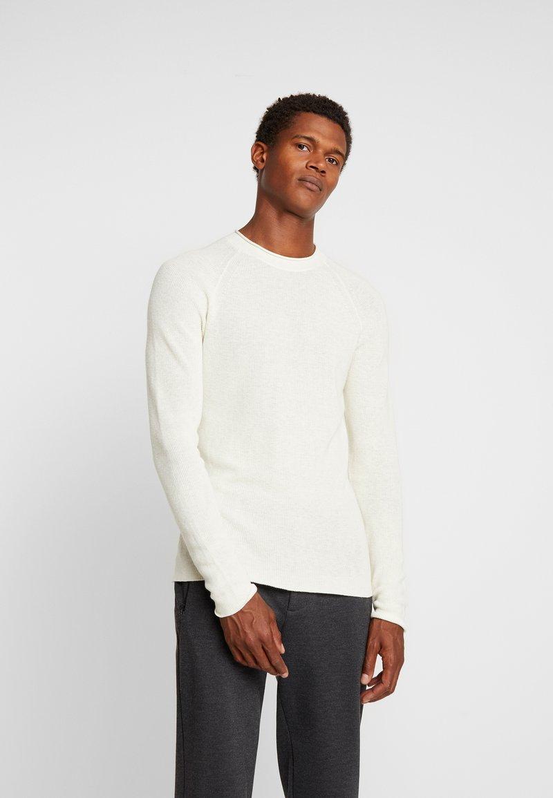 Sisley - Stickad tröja - off-white
