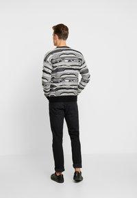 Sisley - Maglione - mottled dark grey/black/white - 2
