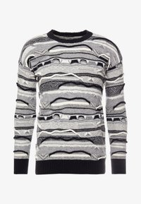Sisley - Maglione - mottled dark grey/black/white - 4