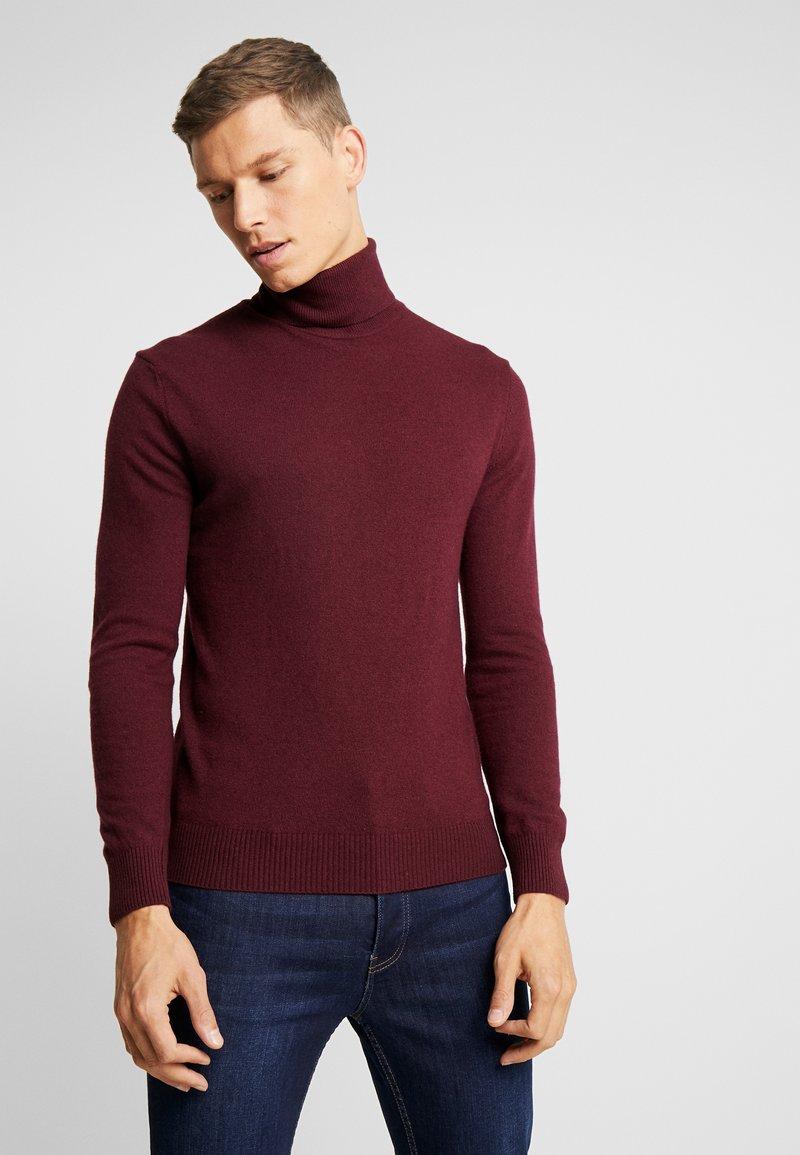 Sisley - Stickad tröja - bordeaux