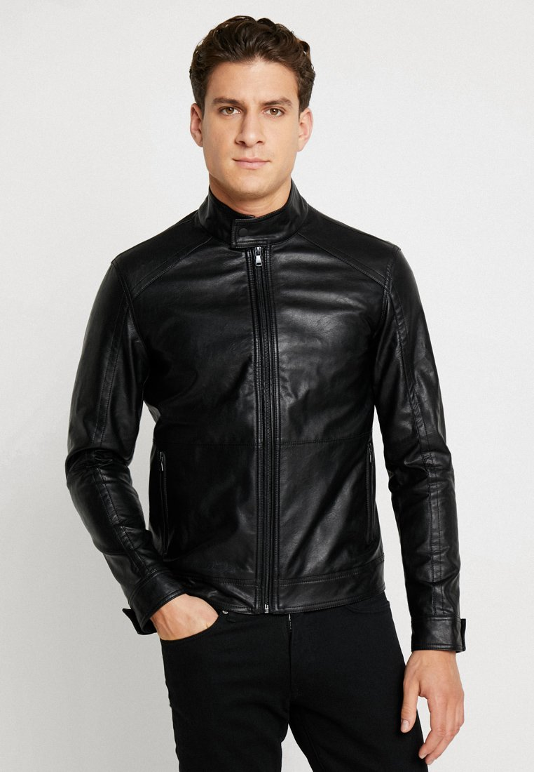 Sisley - Faux leather jacket - black