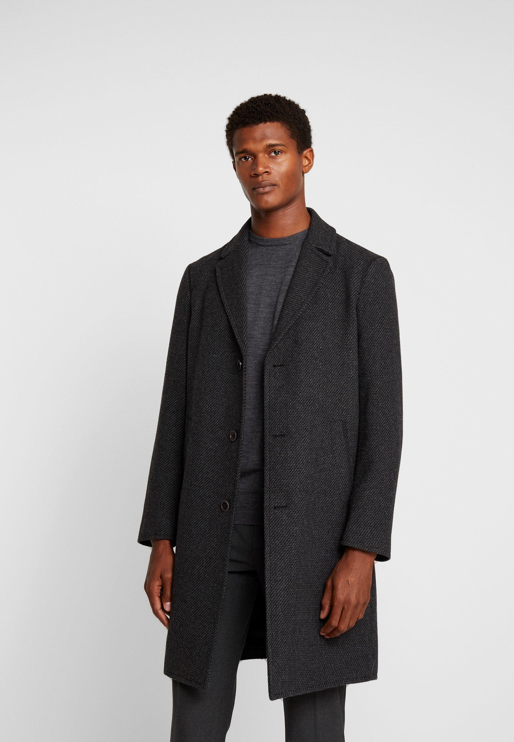 Płaszcz wełniany Płaszcz klasyczny mottled dark grey