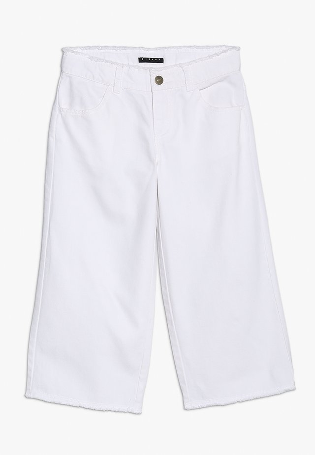 TROUSERS - Flared jeans - white
