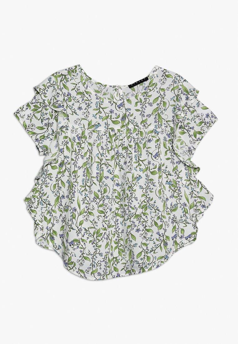 Sisley - BLOUSE - Bluser - white/green