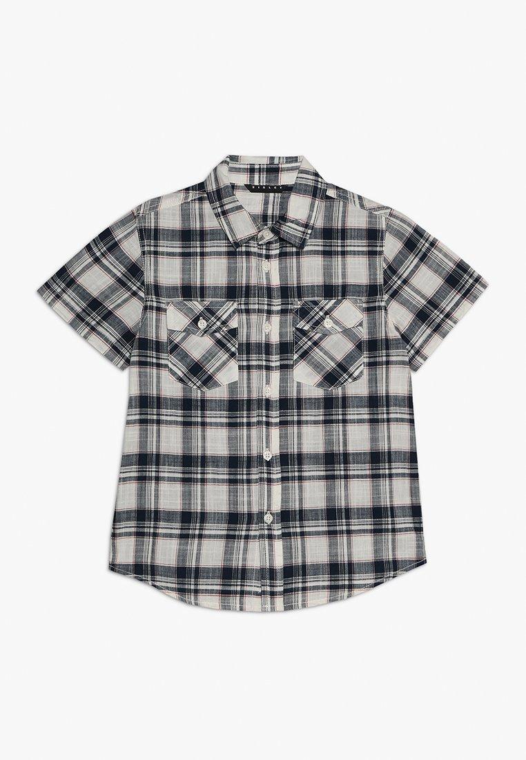 Sisley - Shirt - dark blue/beige