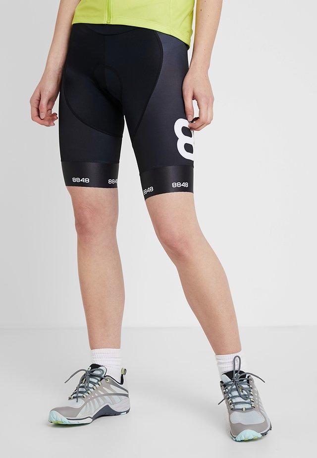 COCA BIKE SHORTS - Leggings - black