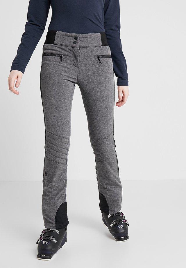 RANDY SLIM PANT - Pantalon de ski - dark grey melange