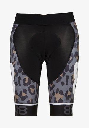 COCA BIKE SHORTS - Tights - black/brown