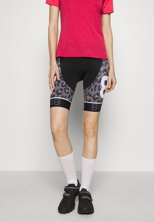 COCA BIKE SHORTS - Leggings - black/brown