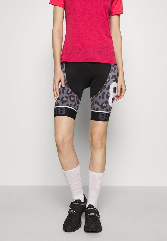 COCA BIKE SHORTS - Legging - black/brown