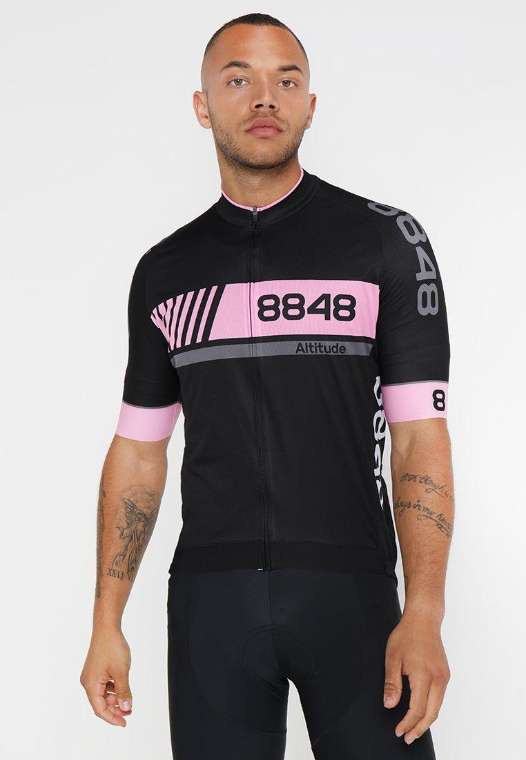 8848 Altitude - PAN LOOP BIKE  - T-Shirt print - black/pink