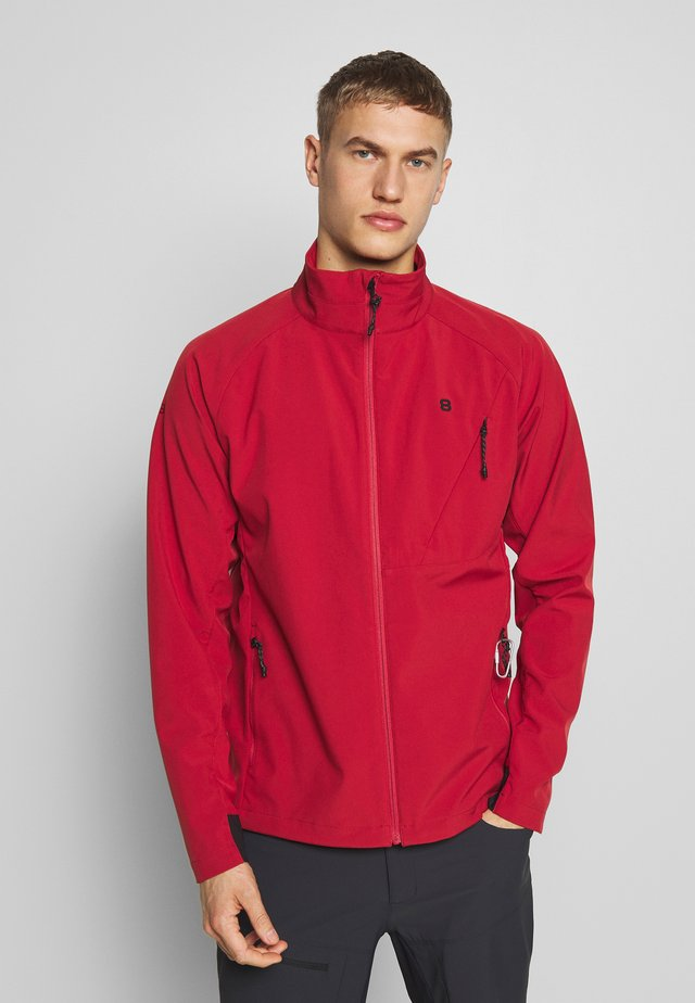 CAREZZA JACKET - Softshelljas - aroma red