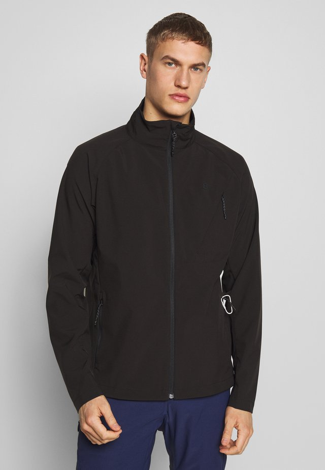 CAREZZA JACKET - Softshelljacka - black