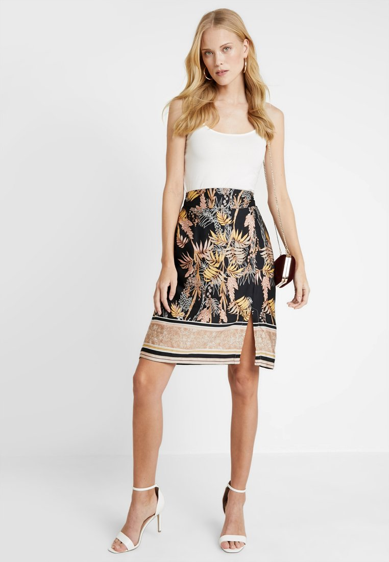 Cream - MONIQUE SKIRT - A-Linien-Rock - pitch black