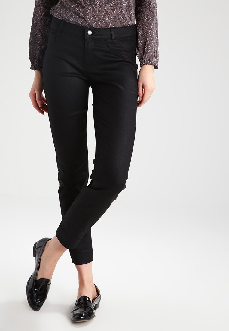 comma - Stoffhose - black