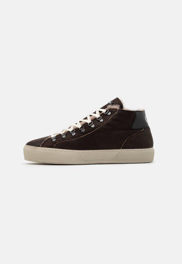 Sneakers hoog - dark brown