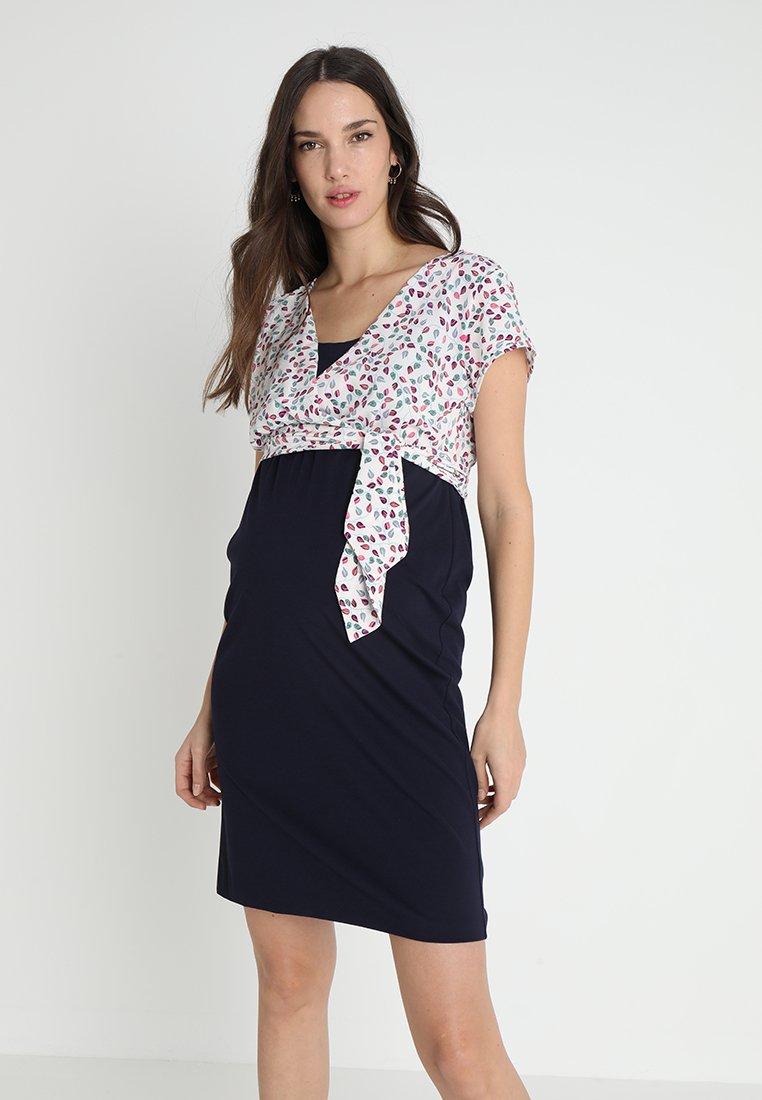9Fashion - RECIA - Jersey dress - dark blue/multi-coloured