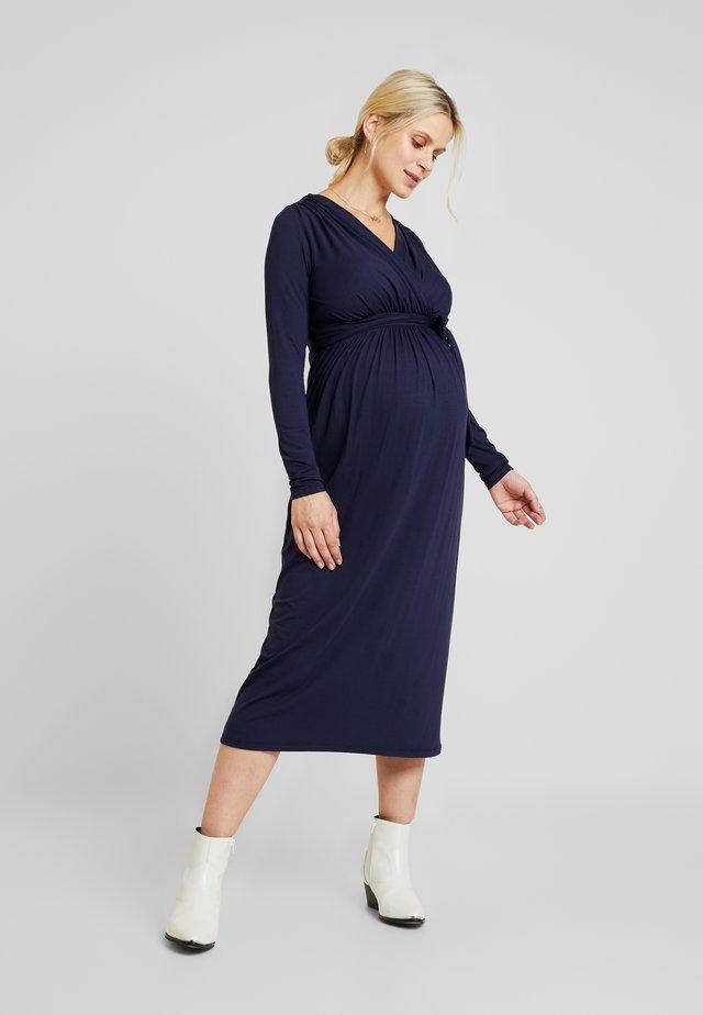 VOLTERA - Jersey dress - blue