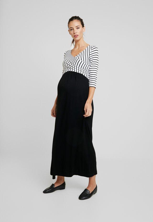 MILENNA - Vestito lungo - black/white