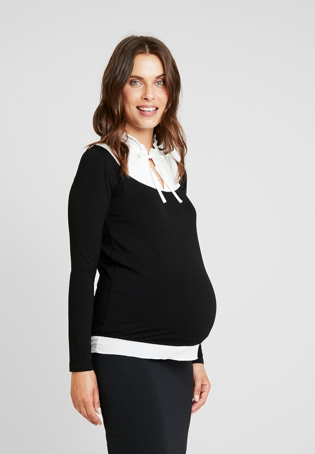 DUGENDA - Long sleeved top - black