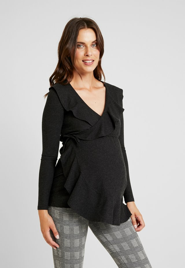 GUIA - Long sleeved top - anthracite