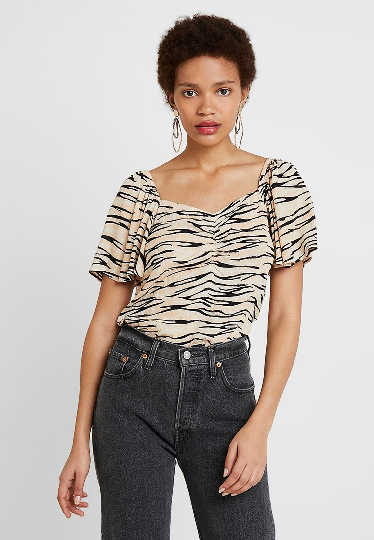 Dorothy Perkins - ROUCHED FRONT TOP - Pusero - multi-coloured