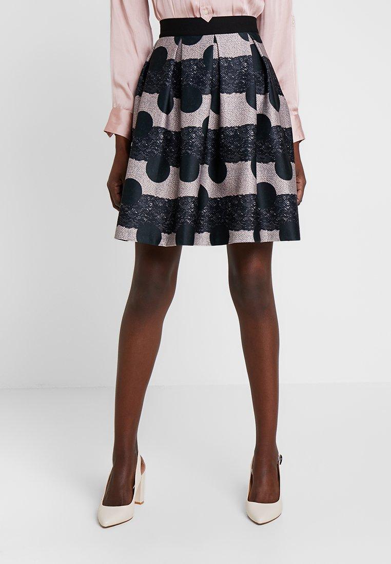 Anna Field - A-line skirt - black/rose