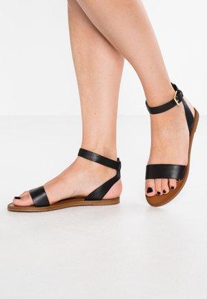 CAMPODORO - Sandaalit nilkkaremmillä - black