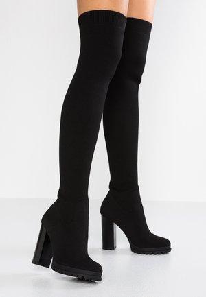 LARORELIA - Kozačky na vysokém podpatku - black