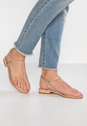 LILIRIA - Sandály s odděleným palcem - metallic
