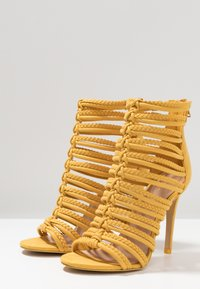 ALDO - RORKA - High heeled sandals - mustard - 4