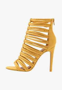 ALDO - RORKA - High heeled sandals - mustard - 1