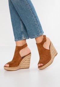 ALDO - NURKA - High heeled sandals - camel - 0