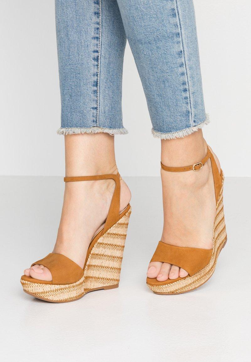 ALDO - CILMACLYA - Højhælede sandaletter / Højhælede sandaler - cognac