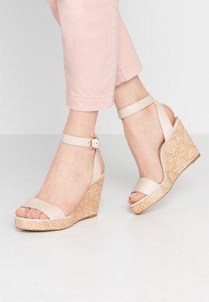 UNALIVIEL - Korolliset sandaalit - bone