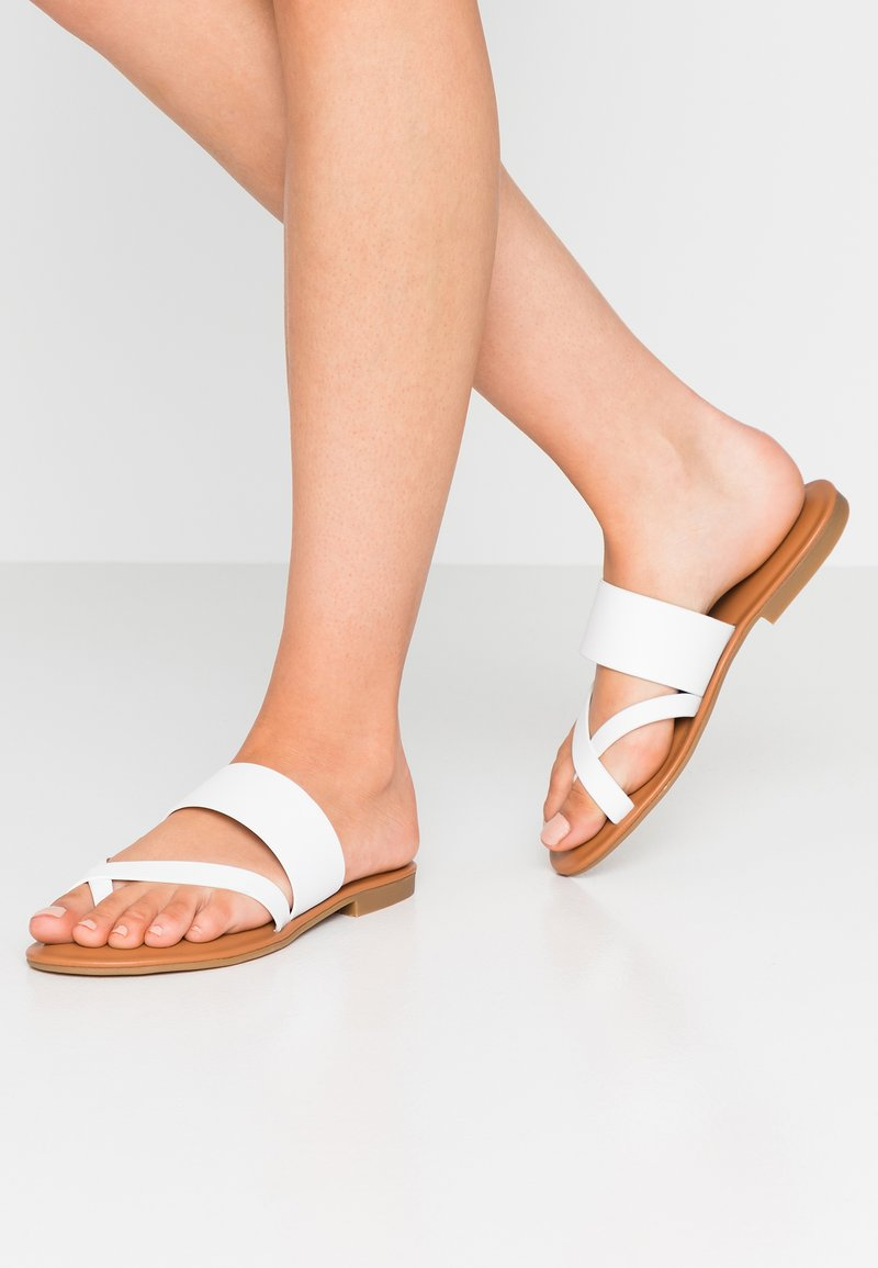 ALDO - CELODIA - T-bar sandals - white