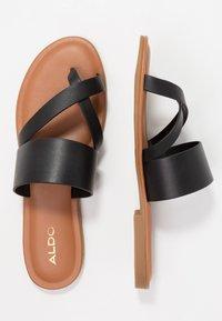 ALDO - CELODIA - Sandály s odděleným palcem - black - 3