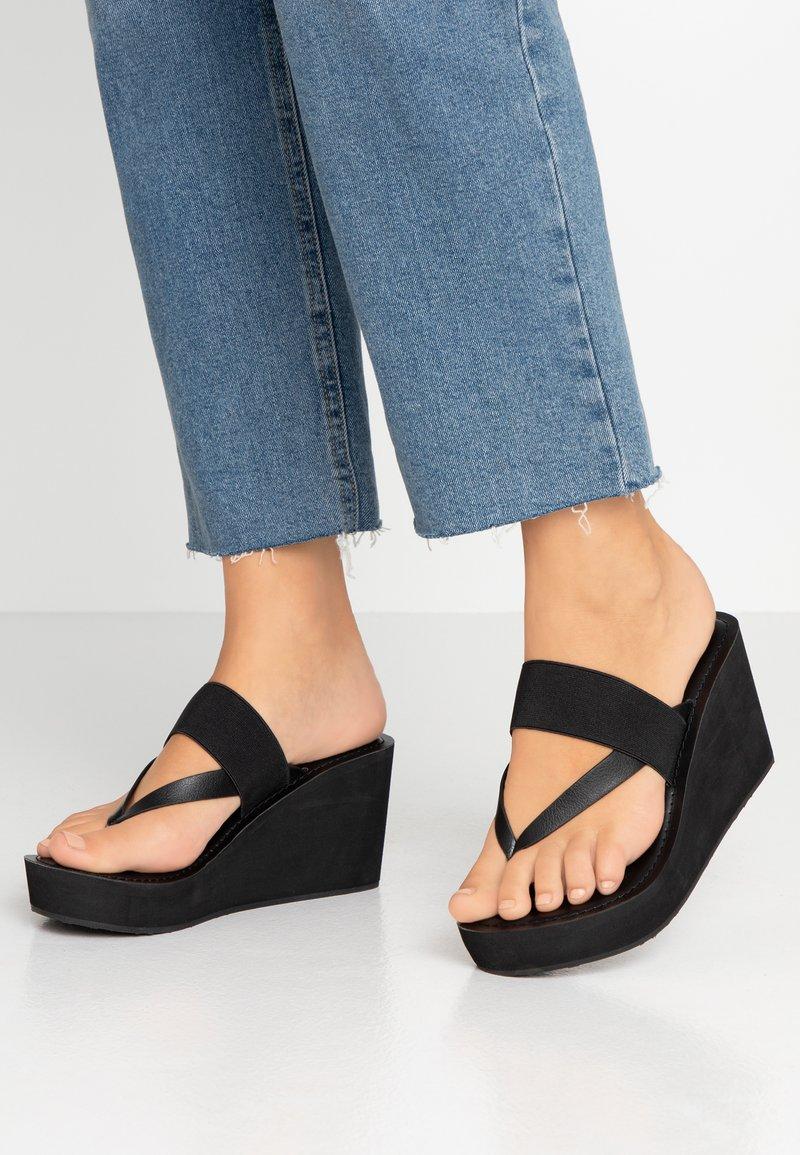 ALDO - LEGIECIA - T-bar sandals - black