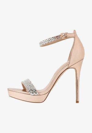 STUNNING - Sandalen met hoge hak - rose gold