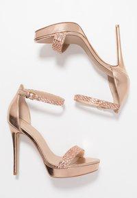 ALDO - STUNNING - High heeled sandals - rose gold - 3