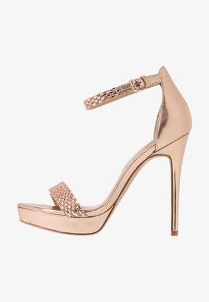 STUNNING - Sandaler med høye hæler - rose gold