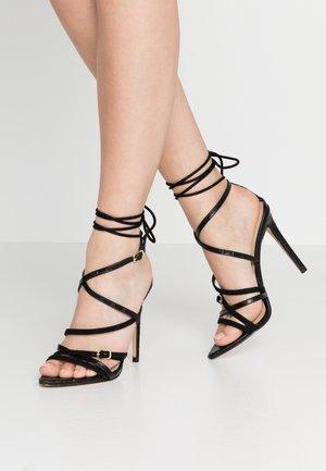 LAWRENCE - Sandaler med høye hæler - black