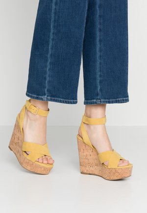 HELENA - High heeled sandals - other yellow