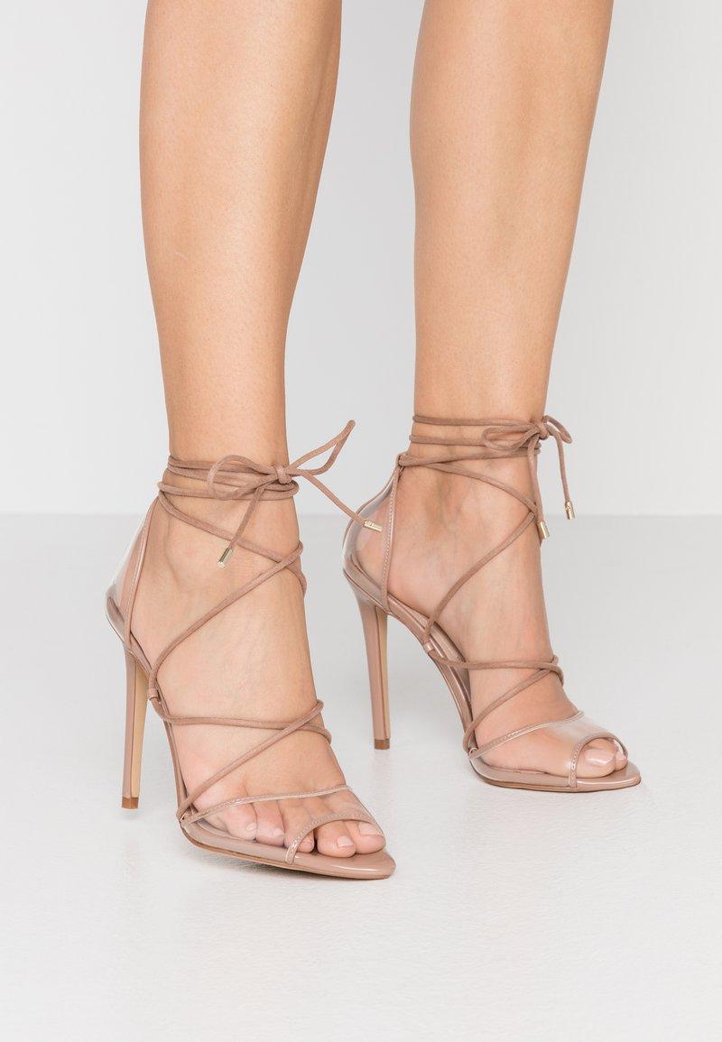 ALDO - AMENABAR - Sandaler med høye hæler - bone