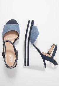 ALDO - BROA - High heeled sandals - navy - 3